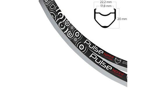 Ryde Pulse Sprint Felga biały/czarny